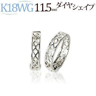 K18WGフープフープイヤリング(ピアリング)