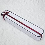 チェーンケース白・リボン赤